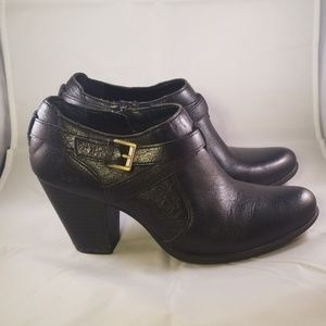B.O.C. Black Ankle Booties Size 8.5
